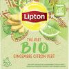 Lipton Thé Vert Bio Gingembre Citron-Vert Bio 20 Sachets Pyramides - Product