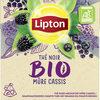 Lipton Thé Noir Mûre Cassis Bio 20 Sachets Pyramids - Produit