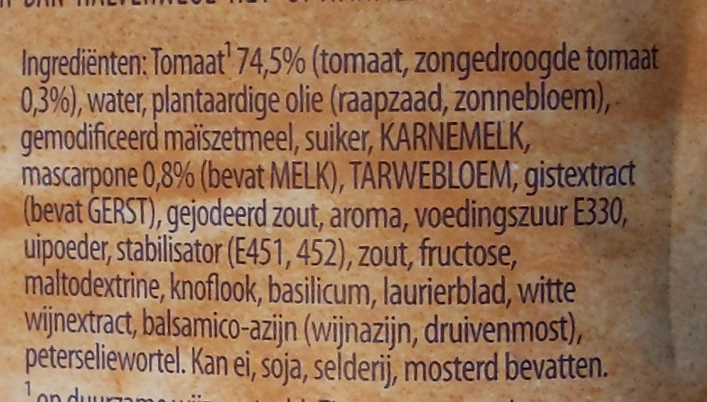 Romige tomatensoep - Ingrédients - nl