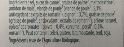 Knorr Bouillon Cubes Poules Maxi Format 12 Cubes - Ingredients - fr