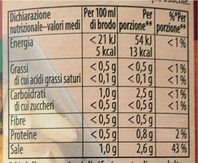 Brodo granulare classico - Informations nutritionnelles - fr