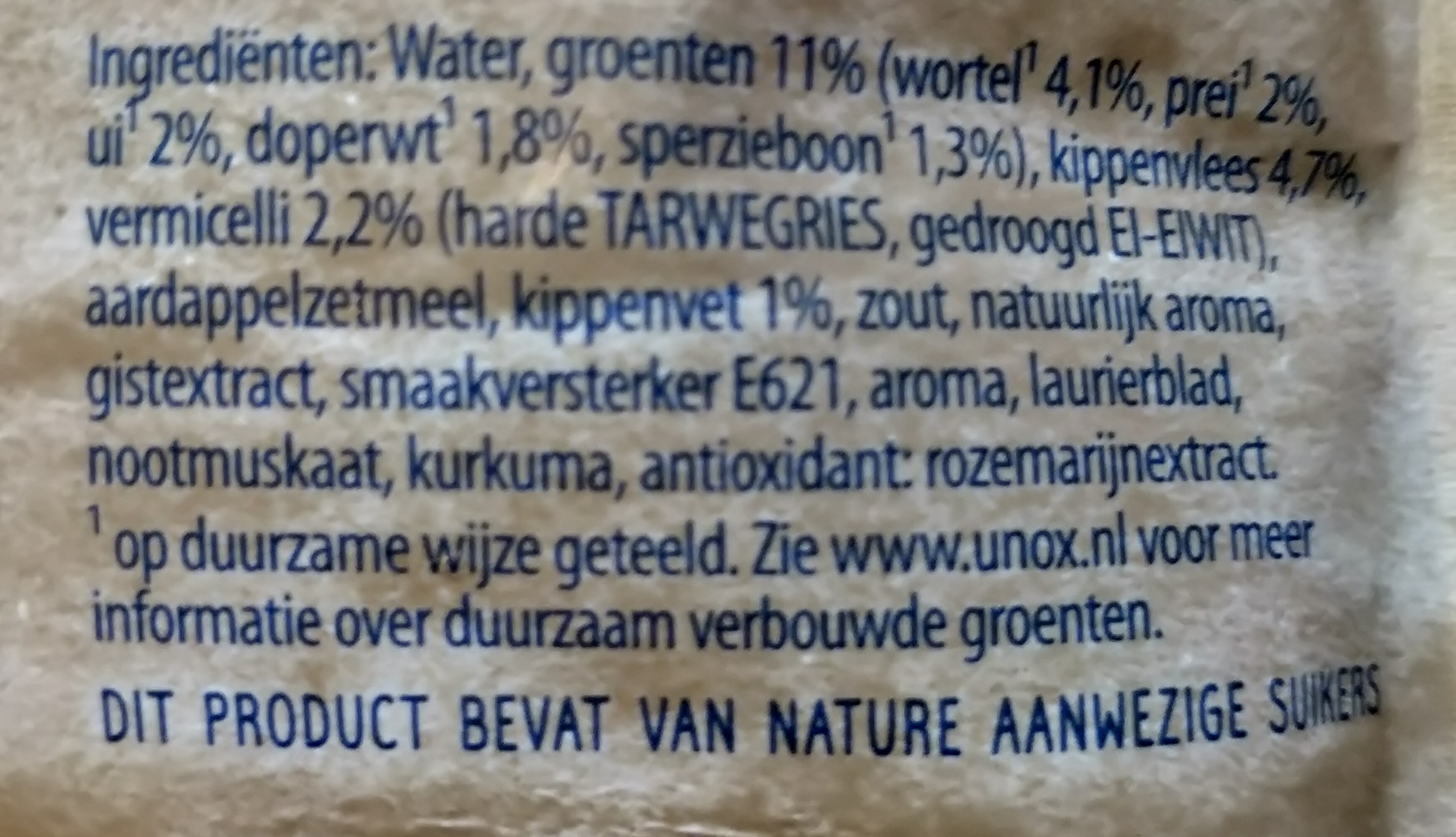 heldere kippensoep - Ingredients - nl