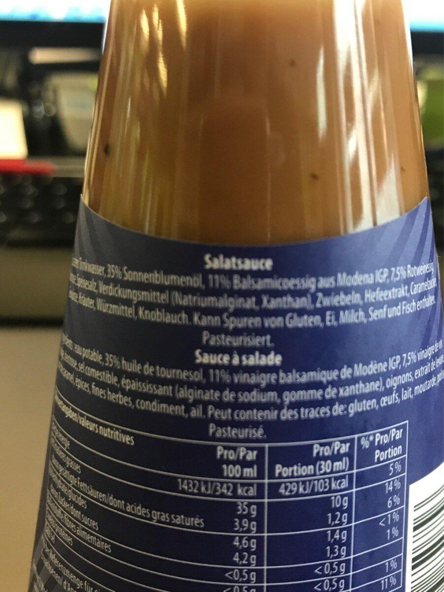 Italian balsamico - Ingredienti - fr