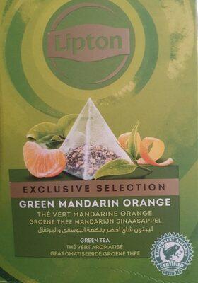Green mandarin orange green tea