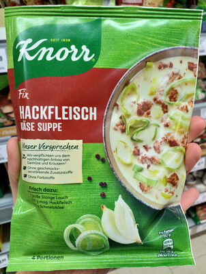 knorr fix lauch käse suppe