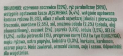 Lentilles rouge au curry - Składniki - pl