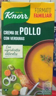 Crema de pollo con verduras envase 1 l - Produkt - es