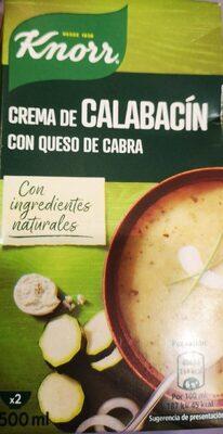 Crema de calabacin con queso de cabra