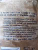 Romige champignonsoep met ui en bieslook - Ingredients - fr
