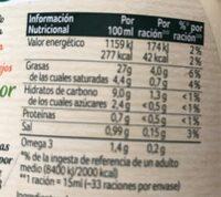 Ligeresa Original - Informació nutricional - es