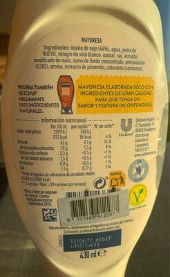 Gran mayonesa - Voedingswaarden - en