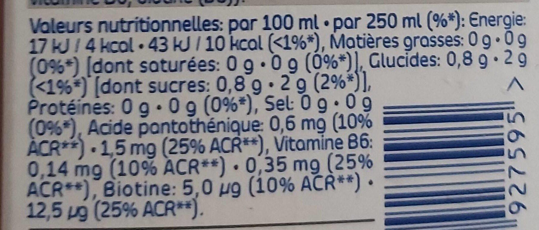 Better Water Charcoal - Voedingswaarden - fr