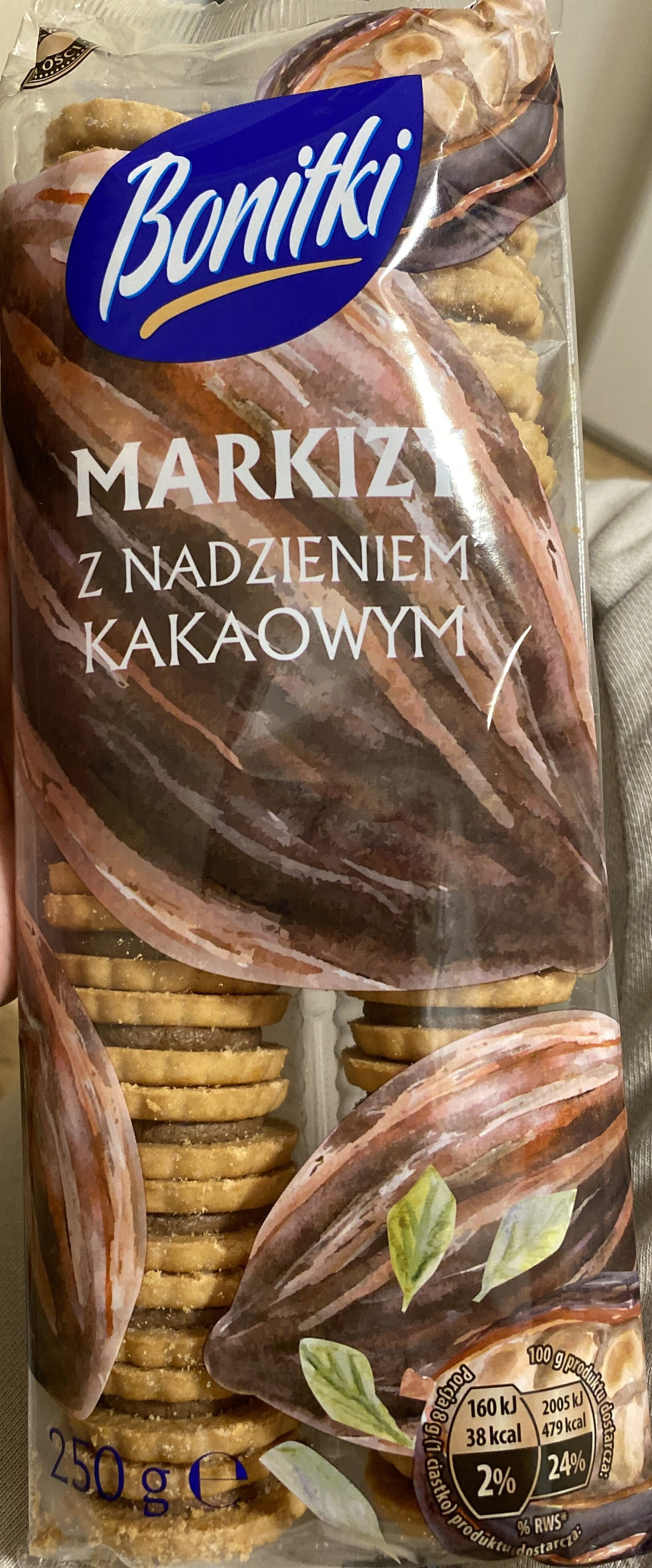 Markizy ciastka z nadzieniem kakaowym (25%) - Product