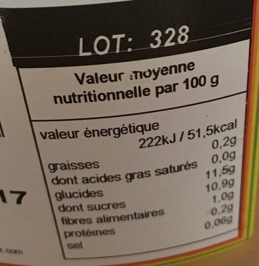 Salade de fruits Sun - Voedingswaarden - fr
