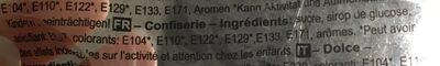 Spiraallolly Regenboog Normaal 8,5CM - Ingrédients