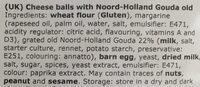 Kaasbolletjes - Ingredients - en