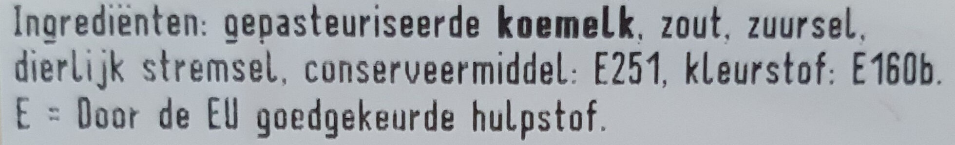 Jong Belegen Gouda kaas 48+ - Ingrediënten - nl