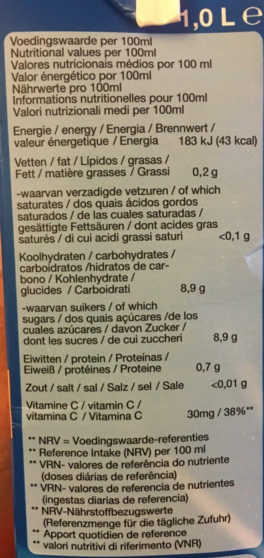 Sap Sinaasappelsap - Informations nutritionnelles