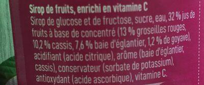 Sirop de fruit - Ingrediënten