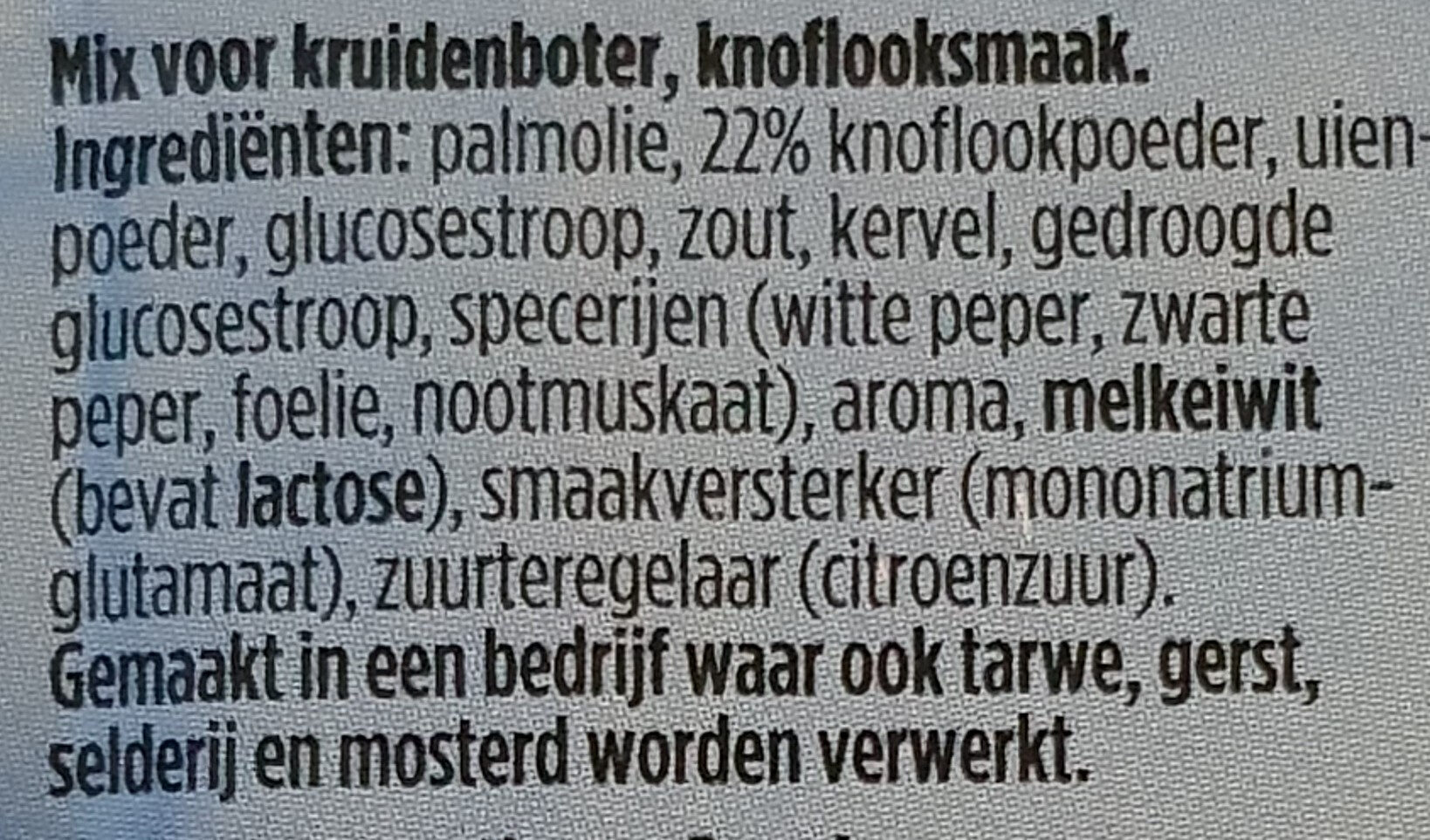 Provencale Kruidenboter Knoflook - Ingrediënten - nl
