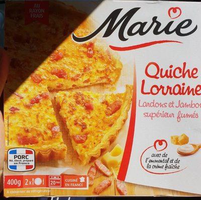 Quiche Lorraine Lardons Jambon Marie
