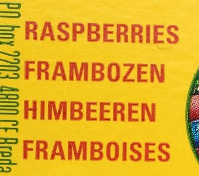 Framboises - Ingredients