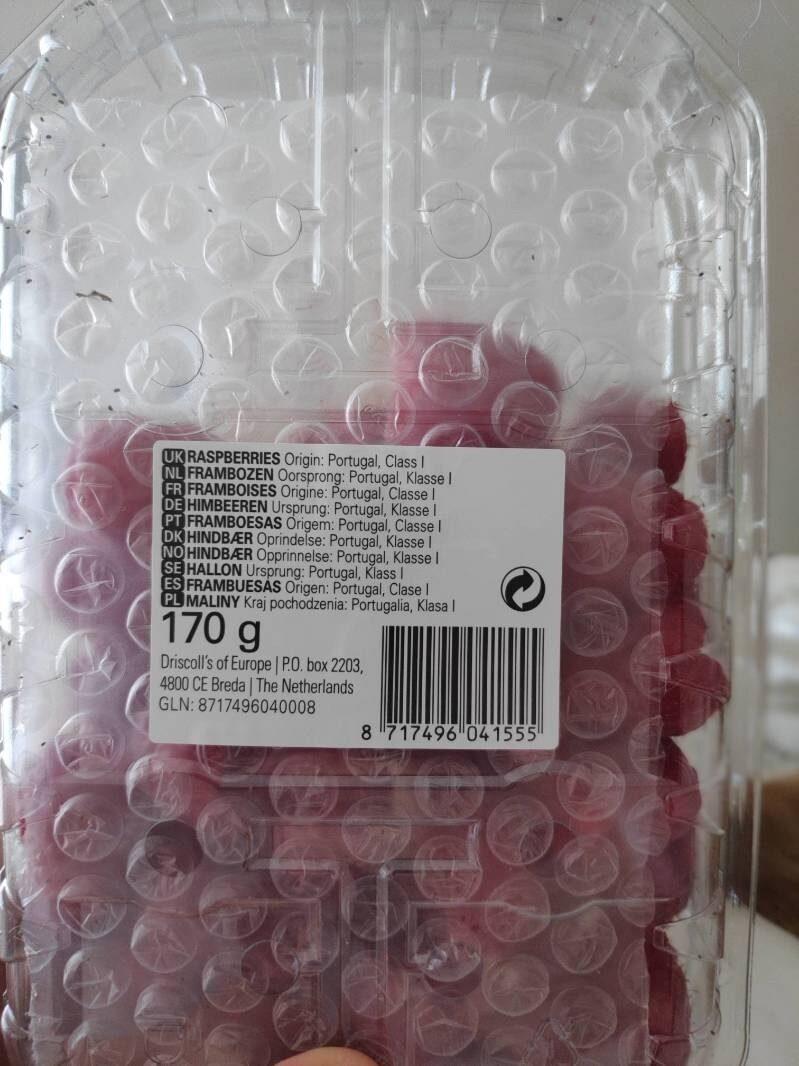 Frambuesa 170g - Ingrediënten