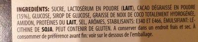 Hot Chocolat - Ingredients