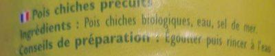 Pois chiches Bio - Ingrediënten - fr