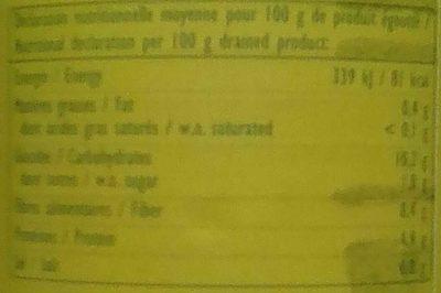 Mix de haricots - Voedingswaarden - fr