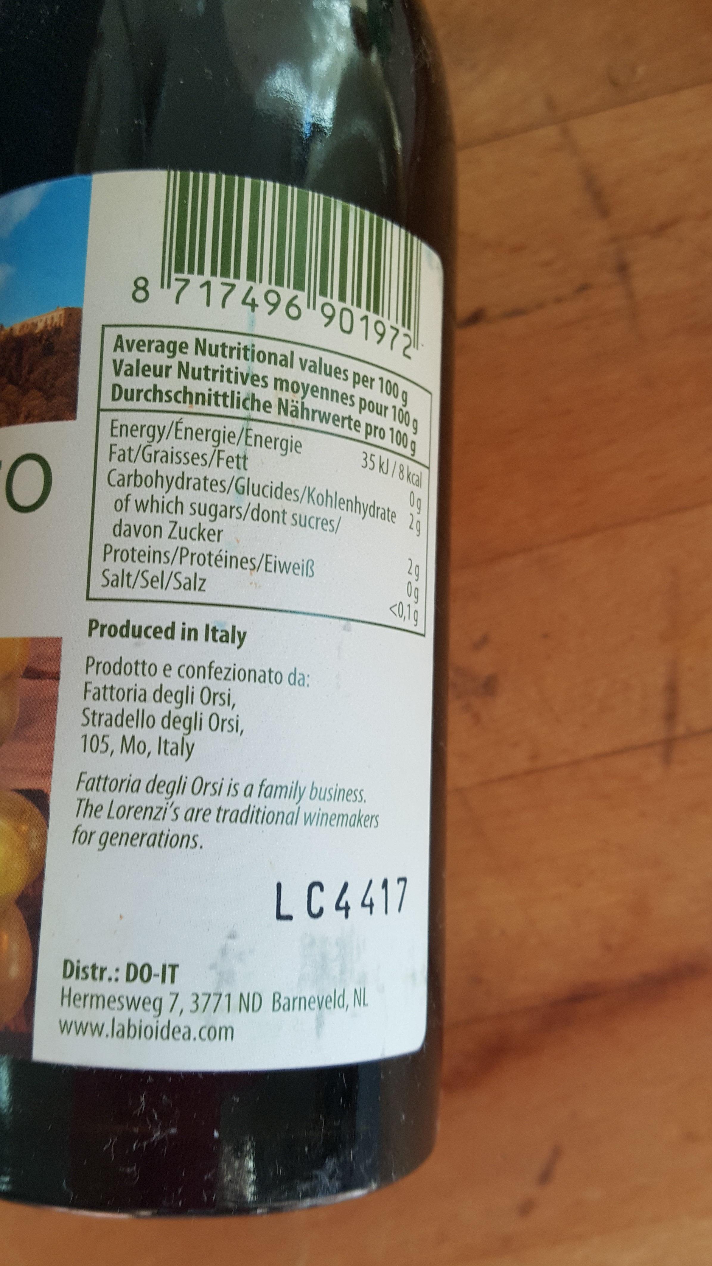 condimento bianco di Modena - Product - nl