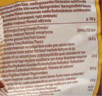 Epicerie / Apéritifs Bio / Biscuits Apéritif Bio - Nutrition facts - fr