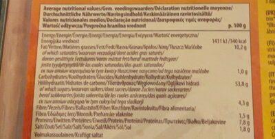 Wheat Flour Tortilla Wraps - Valori nutrizionali - fr