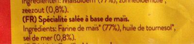 Natural corn chips - Ingredients