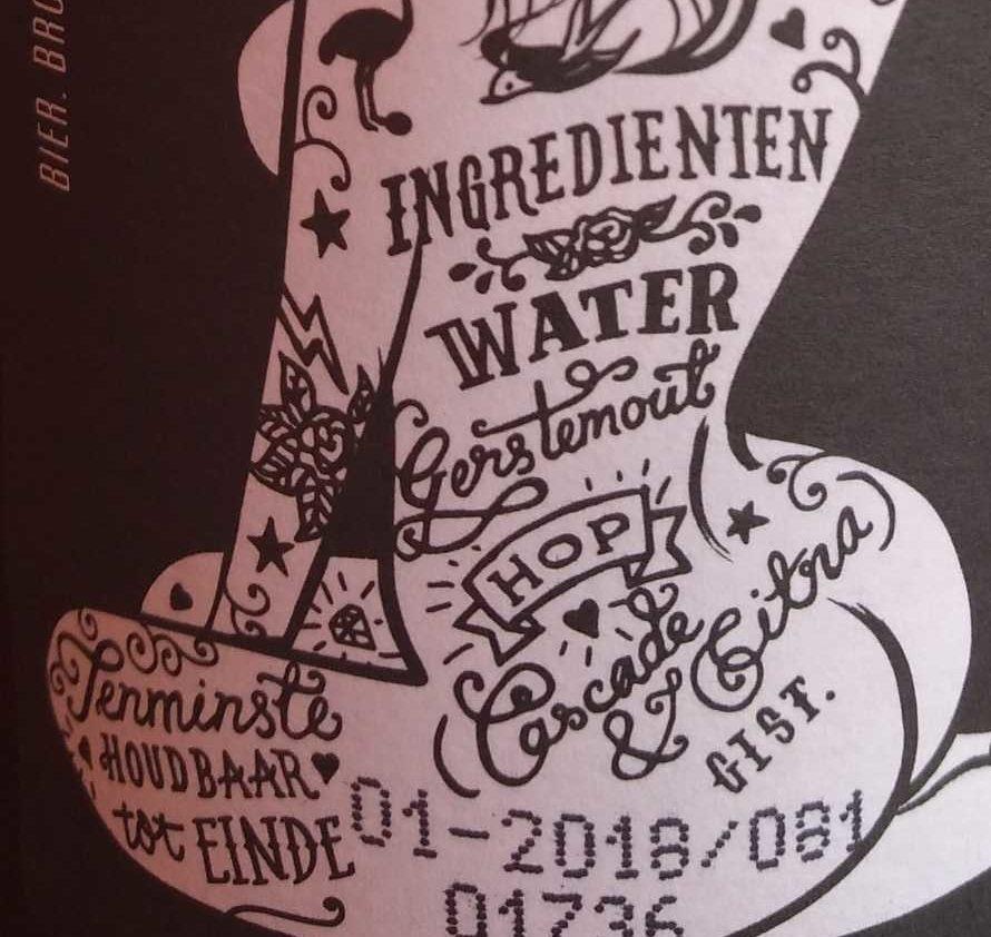 Brouwerij 'Tij Ipa - Ingredients - nl