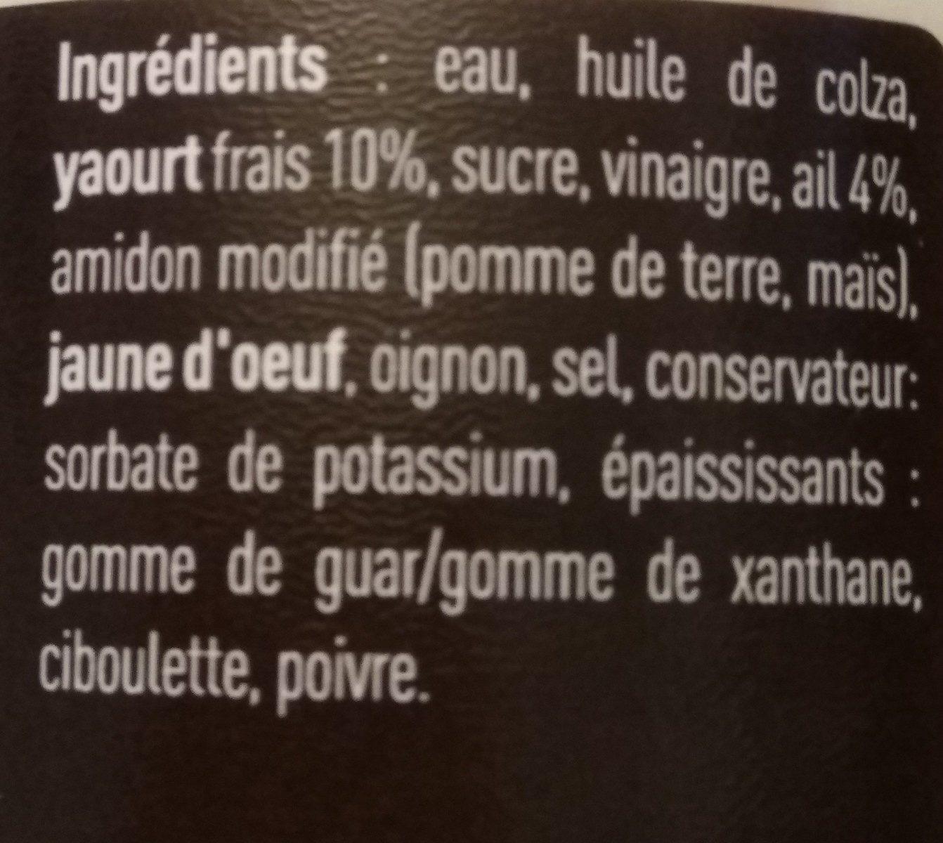Ail - Pita - Ingrédients - fr