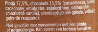 Pindakaas Met Chocolade - Ingrediënten
