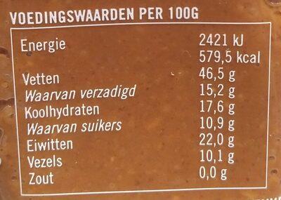 Pindakaas Met Chocolade - Voedingswaarden