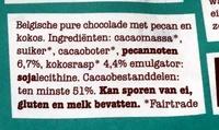 Pecan kokos puur 51% - Ingrediënten - nl