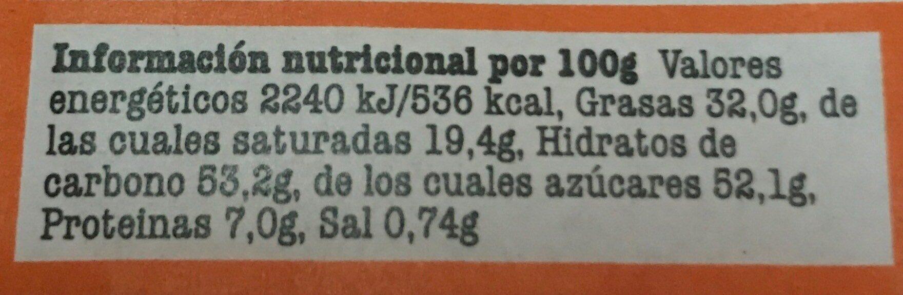 Chocolate Caramel sea salt - Nutrition facts