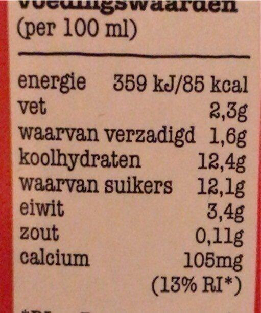 Chocolademelk - Nutrition facts - nl