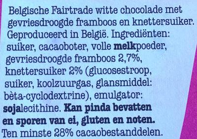 Wit 25% framboos knettersuiker - Ingrediënten - nl