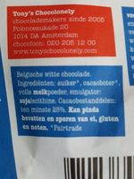 Tony's Chocolonely Wit 180 Gram - Ingrediënten - fr