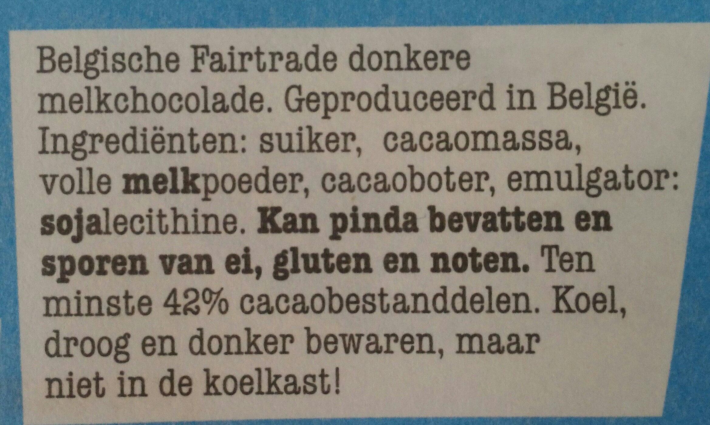 Tonny's Chocolonely donkere melk 42% - Ingrediënten - nl