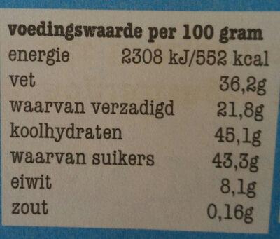 Tonny's Chocolonely donkere melk 42% - Voedingswaarden - nl