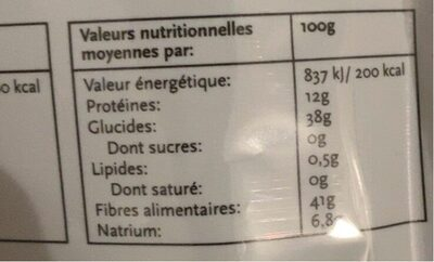 Japanese Wakame - Nutrition facts - de
