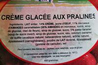 crème glacée aux pralines - Product