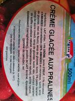 crème glacée aux pralines - Ingredients