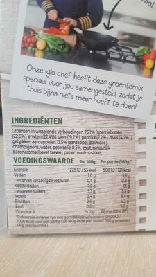 Groente-idee - Nutrition facts