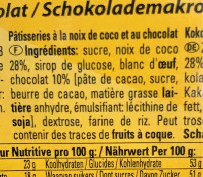 Macarons au chocolat - Ingrediënten